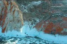俄罗斯*贝尔加湖*奥利洪岛-北线  萨满岩-航拍  气温:-30几,-20几  【奥利洪岛-北线】: