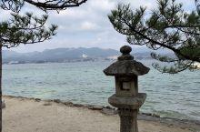 严岛神社需在广岛坐电车到宫岛口再乘渡船到达,游客很多。橘色白色为基调加黑色瓦在海水包围中显得庄重又灵
