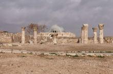 约旦安曼城堡山景区,图①②③是公元二世纪的建筑,图⑥是还原图,图⑤是四世纪建筑,图④是七世纪国王会客