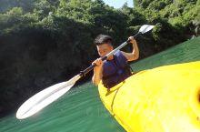 第一次Kayaking  竟然还在兰下 第一次穿钟乳石也是兰下!