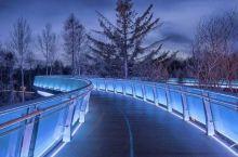 这是长白山空中玻璃桥 景色很美