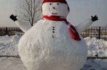 单位一角,大雪人张开双臂迎接新年