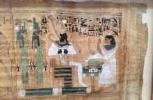 埃及博物馆的一楼,陈列的是大型石雕、石刻,而曾经消失了1000多年的莎草纸画则被陈列在在一楼与二楼间