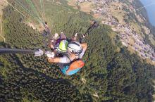 不用言语表述,滑翔伞体验,雷蒙湖清澈见底,美到极致