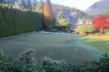 朋友家院子里的小型高尔夫练习场,与游泳池、篮球场/网球场形成自己的活动空间,需要足够的占地面积。