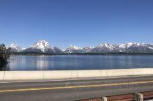 杰克逊湖大坝、湖边雪山(特点水中倒影雪山)