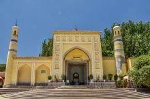 【喀什艾提尕尔清真寺】始建于明正统(1436~1449年)年间,最开始规模不大,在16和18世纪得到