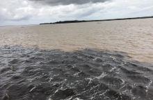 巴西亚马逊河上游甴黑河和索利芒斯河组成,索河河水为黄色,黑河河水为浓咖啡色,因比重,流速不同,两种河