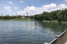 太湖湿地公园,湖天一线美不胜收,炎炎夏日,微风轻拂,是避暑的好地方!