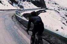 独库公路骑行,置身于铁力买提冰雪世界中