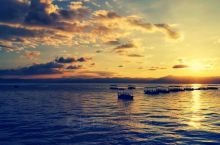 抚仙湖的醉美夕阳