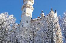 德国,天鹅堡,就像童话世界一样,冰雪下的景色美轮美奂……
