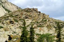 记录我和我的旅行~2009富蕴可可托海 在距可可托海镇镇10公里处有1931年8月11日地震遗留下的