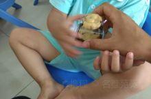 小孩子做的橡皮泥月饼,不能给小孩子吃。