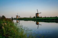 到荷兰不去看风车打个卡不算来荷兰了,黄昏的风车更美