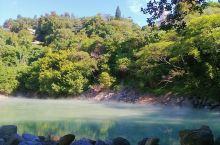 地上烟雾缭绕好似人间仙境  地热谷是这次台湾行中其一景点,就它名字来猜测是地下温度很高的一个峡谷。于