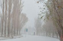玉门暴雪。