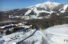 在宾馆里看星野度假村的雪景,太美了