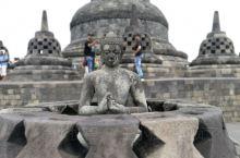 老照片,日惹,婆罗浮屠