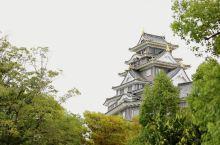 岡山城(也稱為乌城)是順便去看的,就在後樂園的後門出去經過座橋就到岡山天守閣,我們去時已較晚,沒登樓