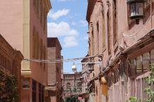 喀什古城,美丽的街道,天真的维族小朋友