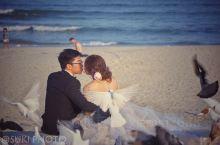 #美溪,婚纱摄影圣地#  如果想拍一辑美美的婚纱照 请来美溪海滩  这里有长长的沙滩 这里有细软的白