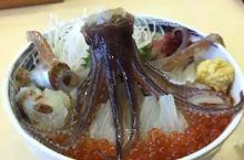 【生吃整个章鱼】函馆朝市  小Tips: 【注意】一定不要整个吞下去,会有被触须吸住喉咙窒息的危险,