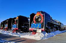 头一次看到这么壮观的机车汇集一起 有好几百辆  看到新中国各个时期的火车头 还有命名的封号 记载着不