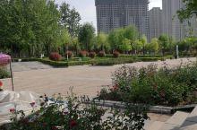 林州人民公园,四周被居民楼包围。