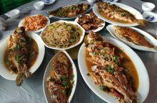 来查干湖,怎么能不吃全鱼宴,一共有八种鱼,可以东北菜的做法只有一种,那就是炖,有点可惜。