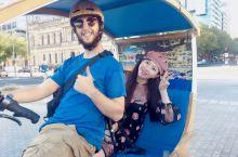 日落时分的阿德莱德,定一辆EcoCaddy游览城市风光与街头艺术,是一场特别的体验,这个类似中国三轮