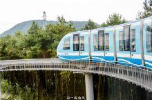 """野玉海观光小火车,""""童话世界""""里的梦幻高铁! 野玉海观光小火车单程全长5.2公里,列长就像一支火箭,"""