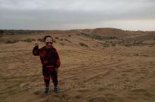 库布齐沙漠,刚下雨有点冷