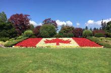 温哥华与西雅图的交界,加拿大一侧用花做的加拿大国旗,很多人在这拍照
