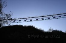 """初冬老君山-流动的音符:如果说初冬的追梦谷有什么亮点的话,我觉得谷内的""""老君山步步惊心网红桥""""是一个"""
