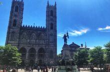 【蒙特利尔】诺特丹圣母大教堂。据说圣母大教堂是参照法国巴黎圣母院的样式建造的,所以人们亲切地称呼它为