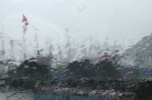 在沈家门渔港,可惜下大雨的