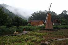 盘龙峡里住木屋,晨早散步,雾气还没散去
