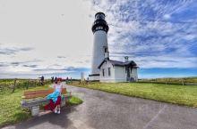 #一个如童话世界般的拍照圣地#  给力的天气来到了童话般的Yaquina 灯塔,小伙伴给我拍了一辑美