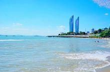 厦大白城沙滩!无敌海景! 厦门的海不像上海这边的海浑浊的!厦大附近的白城沙滩已经是蓝色的海了!就是天