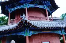 """榆林米脂行宫中的""""捧圣楼"""",攒尖顶重檐三滴水二层式砖木结构建筑,高17米,下为拱形劵洞,一处西北罕见"""