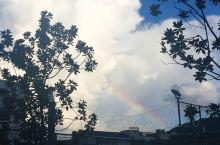 下午下了一会雨 发现那么透亮的天和彩虹