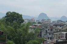 黄姚古镇民宿的楼顶,俯瞰整个小镇的清晨美景,很不错哟