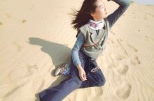 八百里瀚海·塔敏查干沙漠【大漠谣】 十一小长假,全家驱车来到通辽的塔敏查干沙漠,无边无际的沙海,肆意