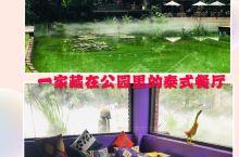 推荐一家位于静安公园里的环境超好的泰国餐厅-泰廊,餐厅位置很赞,面对着公园里面的一个人工池塘,池塘里