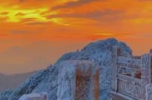 老君山雪景加日出,岂止是一个美字能形容?
