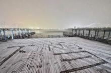 雪后长河美景