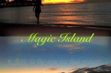 连着两天来Magic Island看落日,大概是真爱了吧哈哈~ 本来想走去Waikiki的,结果鬼使