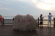 夕阳下的洪泽湖