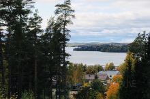 秋天的Lohja更漂亮,远眺Lohja湖,静溢,宁和